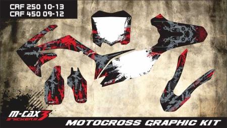 Design 17 - Honda CRF R 450  2009 - 2012, Honda CRF R 250  2010 - 2013, Honda CRF R 250  2010 - 2013